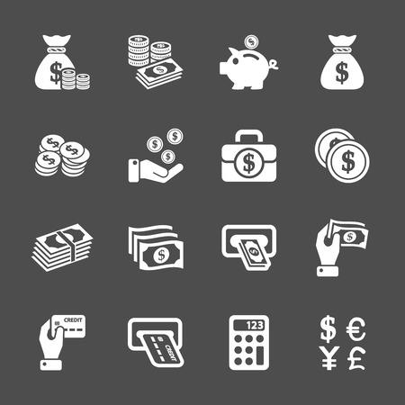 money icon set, vector eps10. 向量圖像