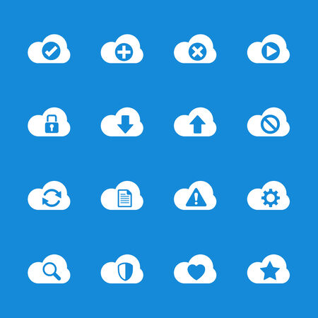 synchronize: cloud computing icon set, vector eps10