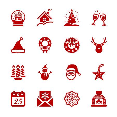 smokestack: christmas icon set 5, vector eps10. Illustration