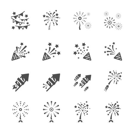 firework icon set 3 Vector