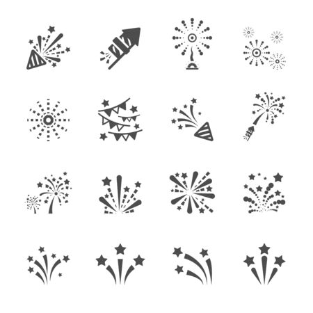 firework icon set 4, vector eps10. Vector