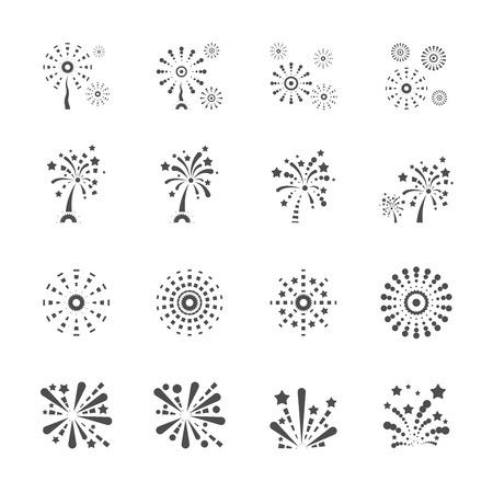 firework icon set 6, vector eps10. Vector
