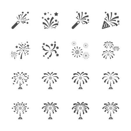firework icon set 7, vector eps10. Vector