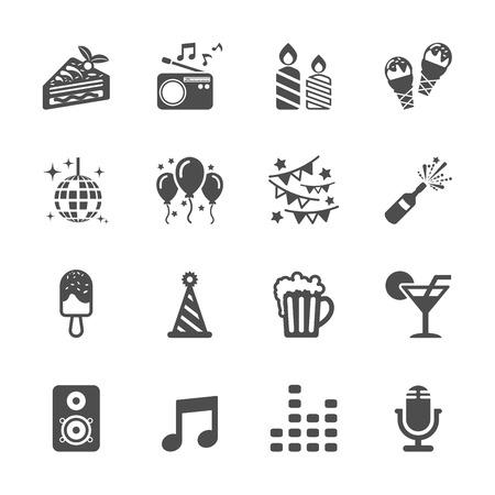 Célébration et l'icône du parti jeu Banque d'images - 35091640