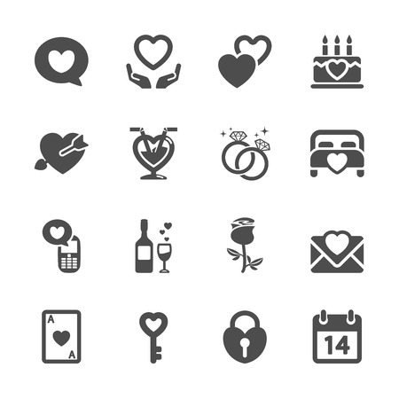 happy couple in bed: love and valentine icon set 4, vector Illustration