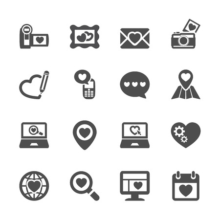 love declarations: love and valentine icon set 8, vector eps10.