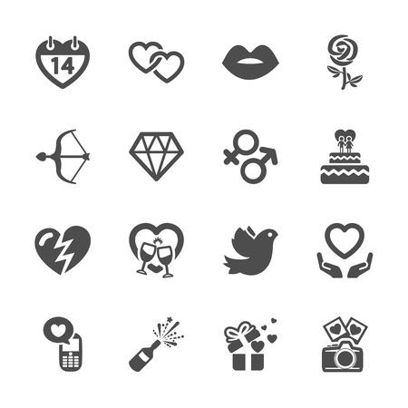 love and valentine icon set 10, vector eps10.