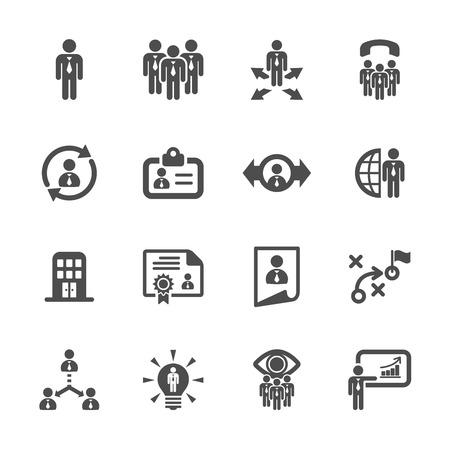 human resource management icon set 2 Çizim
