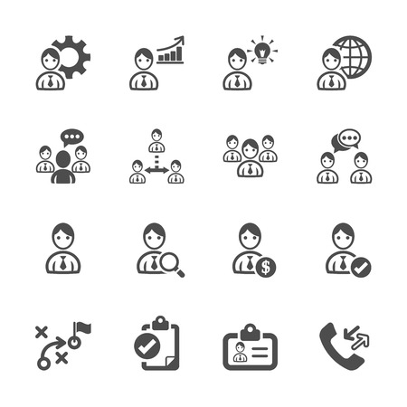 call history: human resource management icon set