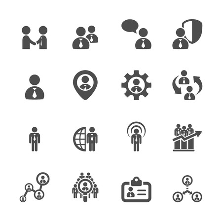 human resource management icon set 4 Vector