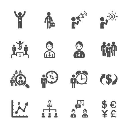 pr: finance and human resource icon set, vector eps10.