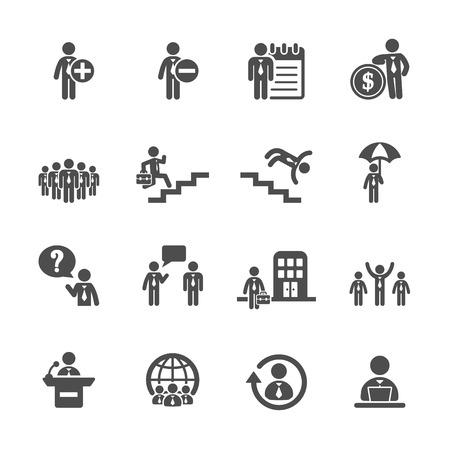 umbella: business and human resource management icon set 3 Illustration