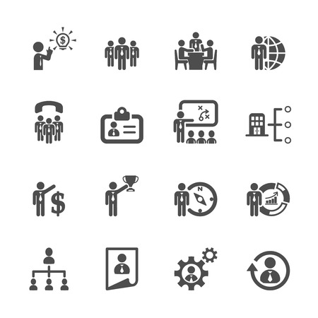 office manager: business and human resource management icon set 2 Illustration