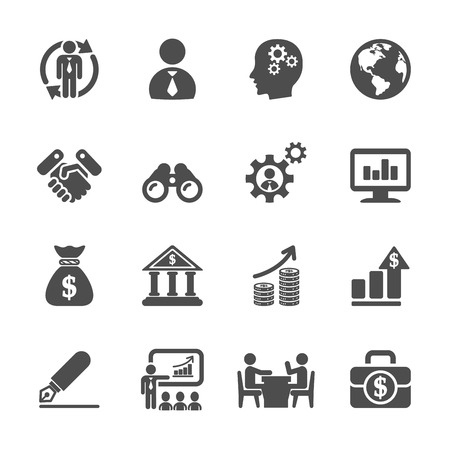 human resource management: business and management icon set 2 Illustration