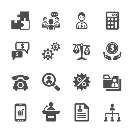 business and management icon set 3