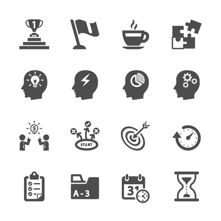 business productivity icon set Vettoriali