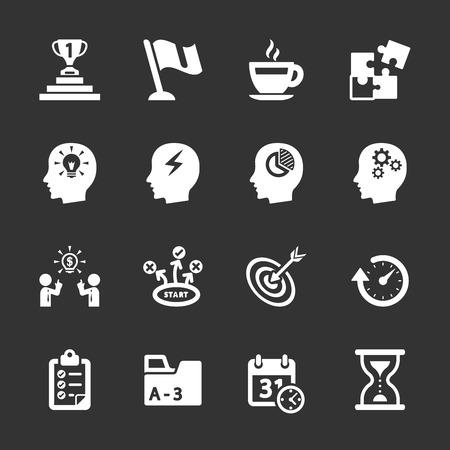 productivity: business productivity icon set Illustration