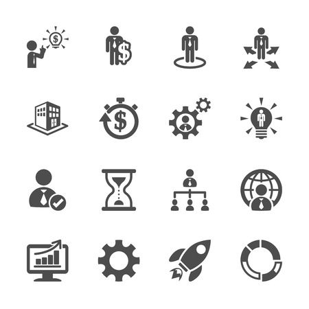 global settings: business and management icon set 4,