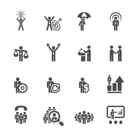 hr: business and management icon set 6