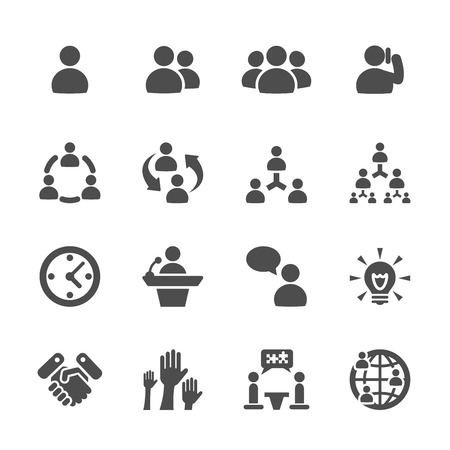 business and management icon set 7, vector eps10.