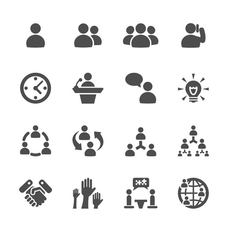 business en management icon set 7 Stock Illustratie