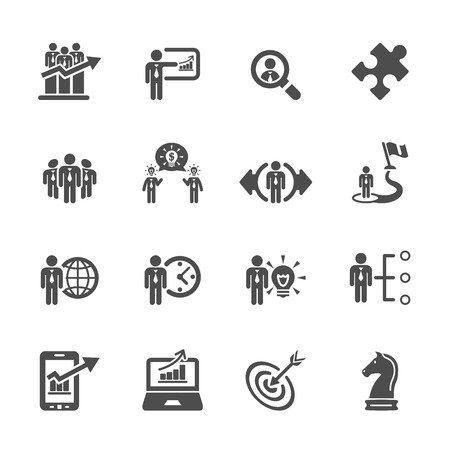 strategy: business and strategy icon set 3