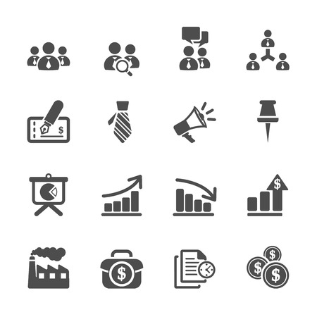 business and management icon set 9 Illustration