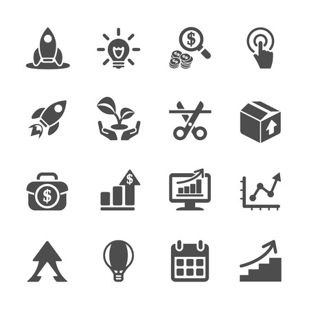 business start up icon set
