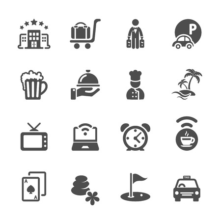 hotel casino: hotel icon set 2, Illustration