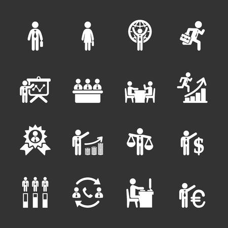 resource management: human resource management icon set 6, Illustration
