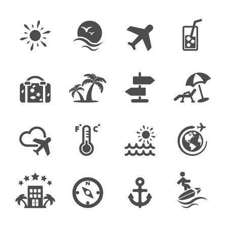 umbella: travel icon set, Illustration