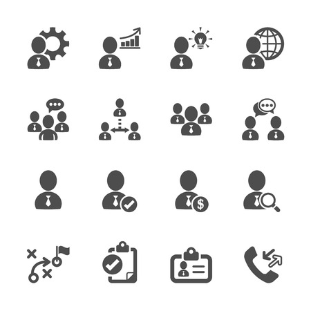 business and management icon set 10.