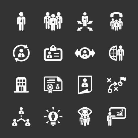 resource management: human resource management icon set 2.