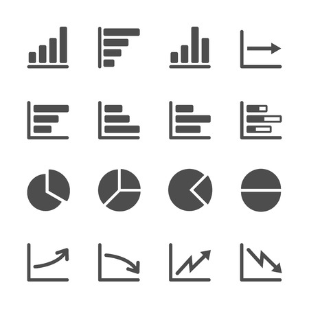 and decline: infographic and chart icon set 3.