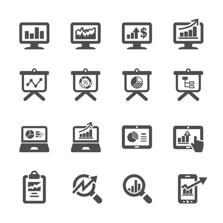 performance: infographic and chart icon set 4.