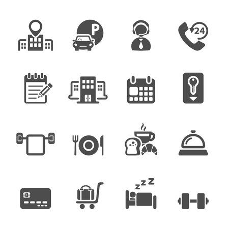 hotel service icon set 3.