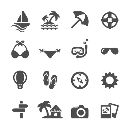 travel and vacation icon set, vector eps10. Vector