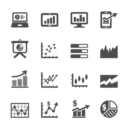histogram: infographic and chart icon set 6, vector eps10.