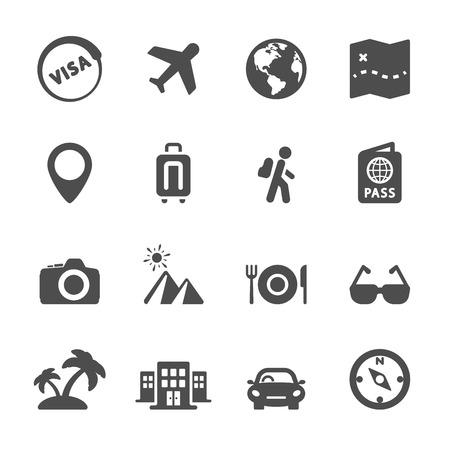 foto carnet: viaje icono conjunto 4, vector eps10. Vectores