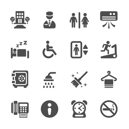 hotel service icon set 4, vector eps10. Vector