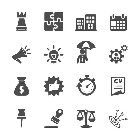 puzzle business: business concept icon set, vector eps10. Illustration