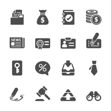 contabilidad: negocios y finanzas icono conjunto, vector eps10.