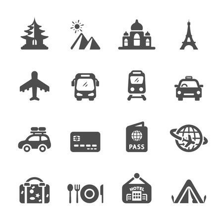 travel and vacation icon set 3, vector eps10. Vector