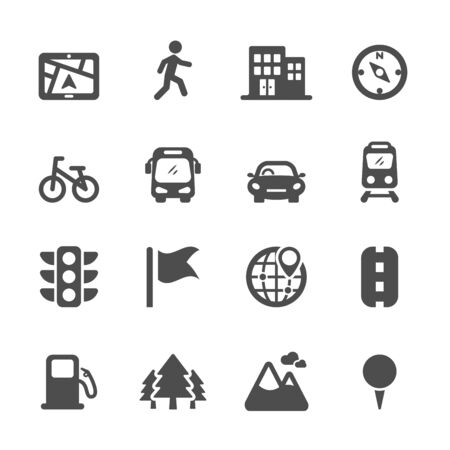map location icon set