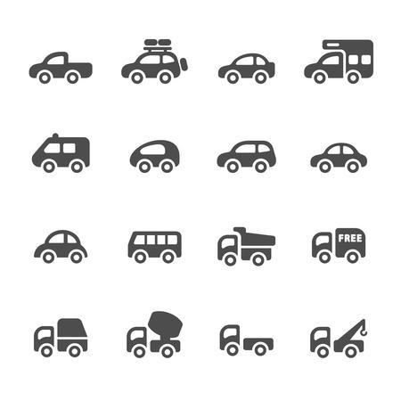 vehicle icon: transportation and vehicle icon set  Illustration