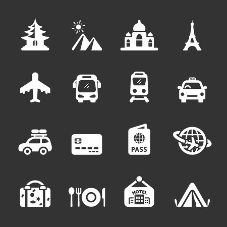 travel and vacation icon set  Vector
