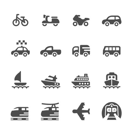 seaway: transportation and vehicles icon set 3