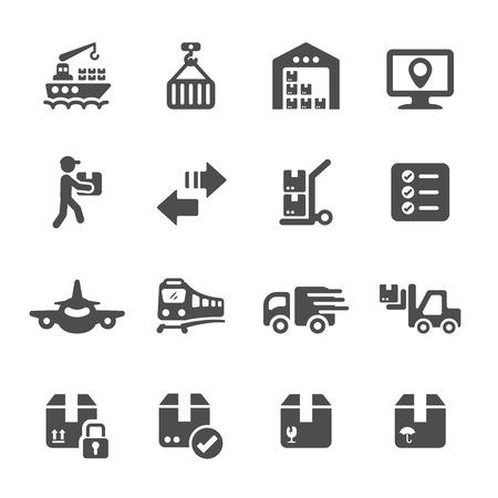 hoist: logistic icon set 3, vector