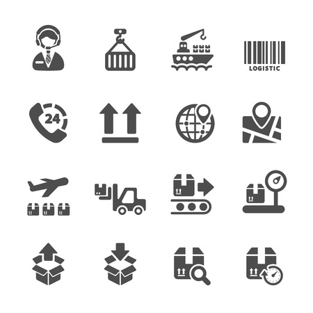 validated: logistic icon set 2, vector Illustration