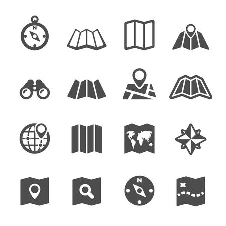 map icon set, vector .